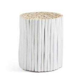 LaForma :: Podnóżek FILIPPO biały drewniany